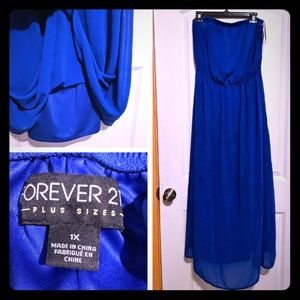 NEW Forever 21 + Royal Blue Maxi Dress